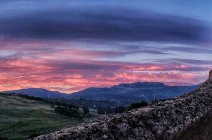 Chasing an amazing sunrise in Ronda Spain