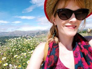 Christina in Ronda Spain glorious hike with wildflowers