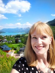 Christina on the Sound of Music tour in Austria outside of Salzburg