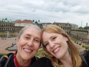 Mamacita and Christina in Dresden Zwinger Palace