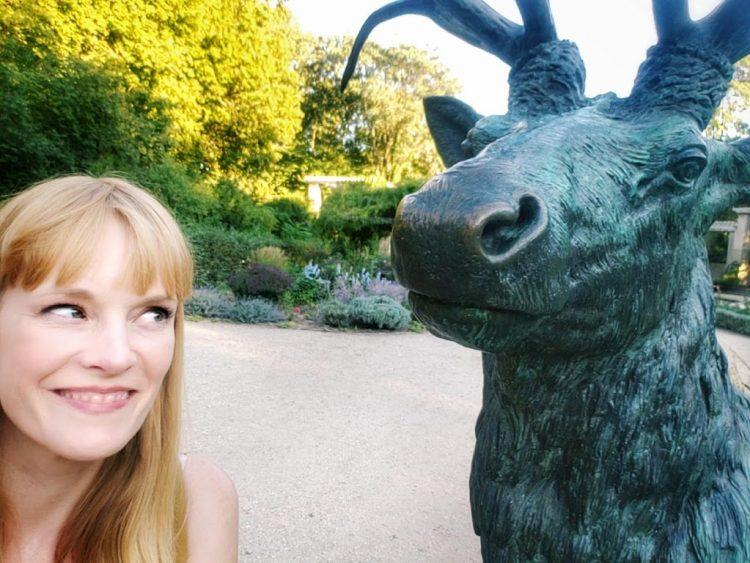 A chat with an elk in the Berlin Tiergarten