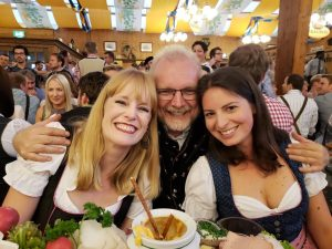 Oktoberfest with coworkers and dirndls